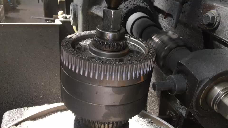 纺织机械铸铁涨紧套同步带轮加工视频