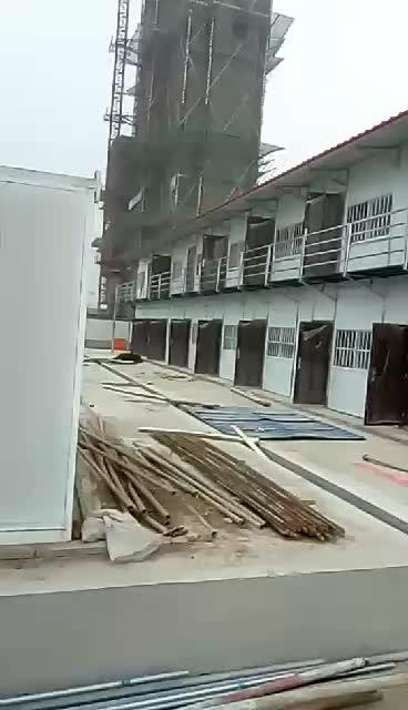 菏泽工地板房建设中