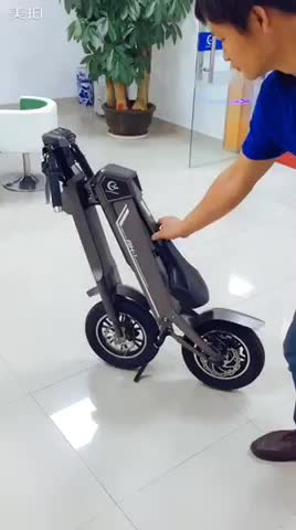 One Button Automatic Smart Unfolding-AK1 Chanson Automatic Smart Foldable Electric Scooter