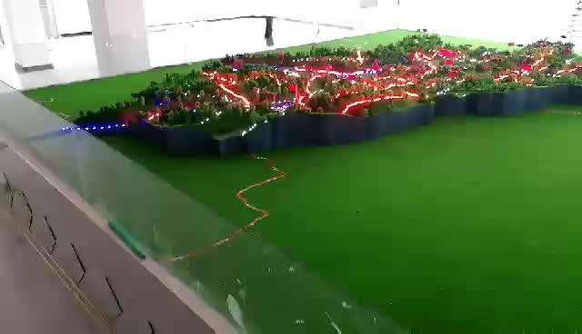 务川县构树种植分布地形沙盘