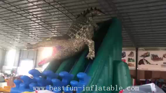SPLASHY CROCODILE inflatable water slide